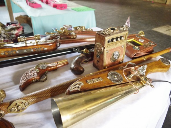 Steampunk weapons and gadgets.